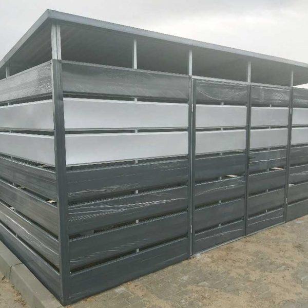 Kukatároló-4m-x-2m-Antracitszürke-és-feher-alumínium---Hátra-lejtős-tető